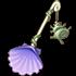 紫色ホタテ貝シャベルの画像
