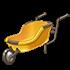 黄色い一輪車の画像