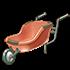 紅の一輪車の画像