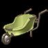 新緑の一輪車の画像