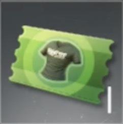 衣装チケット(緑)