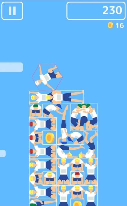 組体操タワー崩し プレイ画面2