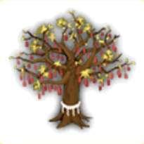 おみくじ結びの木の画像