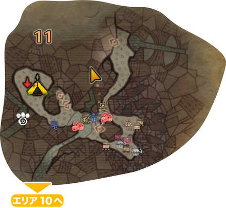 大蟻塚の荒地_マップ11(第一層)