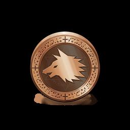 狼のメダルの画像
