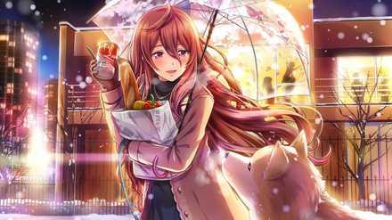 本庄千景【寂しさ纏う雪景色】の画像