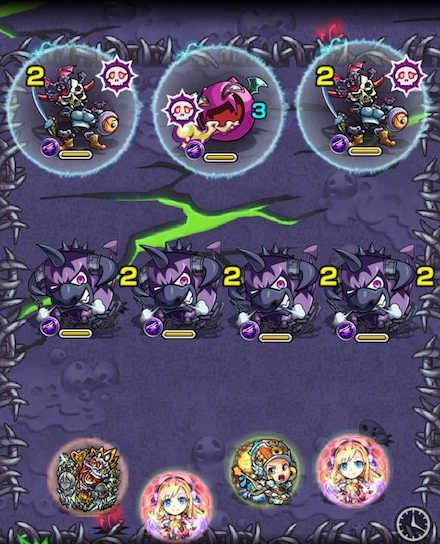 滝夜叉姫のステージ1攻略