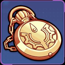 金紋章の懐中時計の画像