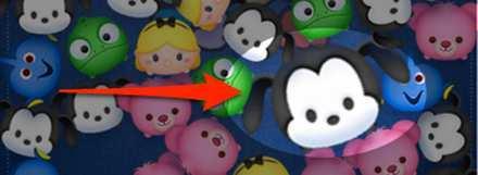 大きいツムで出現しているオズワルドの画像