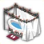 花の浴槽の画像