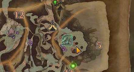 古代樹の森エリア5の痕跡