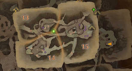古代樹の森エリア15の痕跡