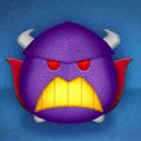 紫色のツムの画像