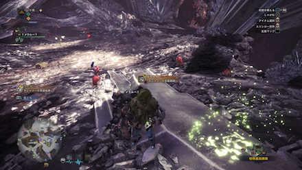 龍結晶の地エリア8の痕跡