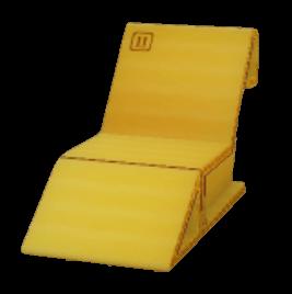 段ボール寝椅子の画像