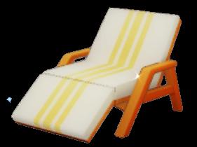 質素な寝椅子の画像