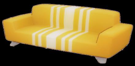 質素なソファの画像