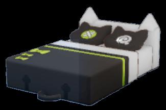 黒猫ダブルベッドの画像