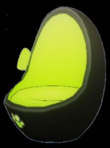 黒猫回転椅子の画像