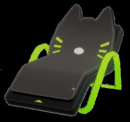 黒猫寝椅子の画像