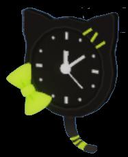 黒猫掛け時計の画像