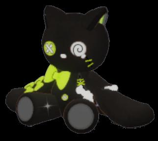 黒猫ぬいぐるみの画像