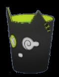 黒猫くずかごの画像