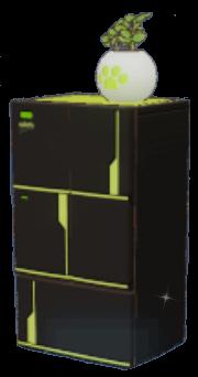黒猫冷蔵庫の画像