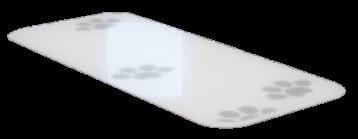 白猫の足跡絨毯の画像