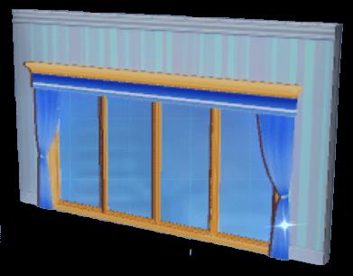 紺碧一面ガラス窓の画像
