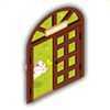 ネコカフェのドアの画像