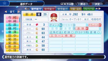 新井貴浩の選手データ画像