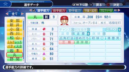 丸佳浩の選手データ画像