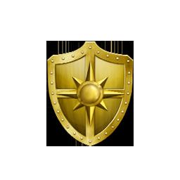 黄金の盾の画像