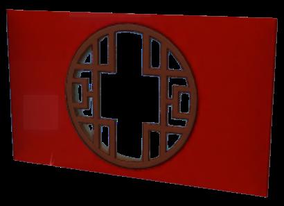 寿字木製窓の画像