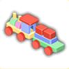 積み木機関車の画像
