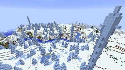 樹氷のある氷原画像