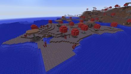 キノコ島の海辺画像