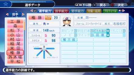 権藤博の選手ステータス画像