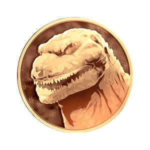 ゴジラ第4形態メダル(金)の画像