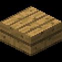 オークの木材のハーフブロック画像