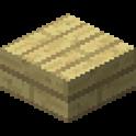 シラカバの木材のハーフブロック画像