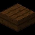 ダークオークの木材のハーフブロック画像