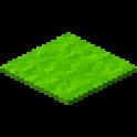 黄緑色のカーペット画像