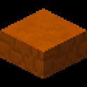 赤砂岩のハーフブロック画像