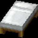 白色のベッド画像