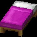 赤紫色のベッド画像