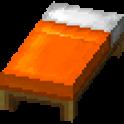 橙色のベッド画像