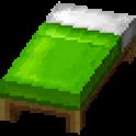 黄緑色のベッド画像