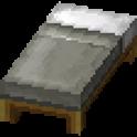 薄灰色のベッド画像